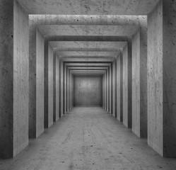 Concrete columns passage background