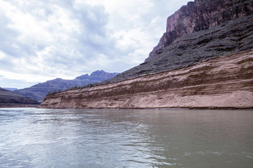 Receding water levels at the Grand Canyon