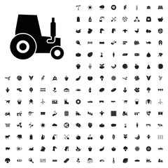 Tractor icon illustration . agriculture icons set for web and mobile.