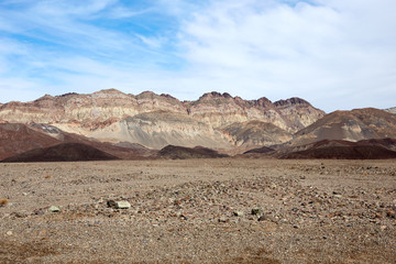 Dry barren landscape of Death Valley, Nevada, USA