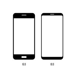 Smartphone screen size. Flat vector icon. Simple hardware icon