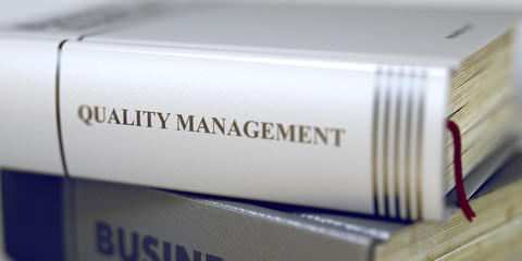 Quality Management. Book Title on the Spine. 3D.