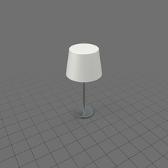Bedside lamp with shade
