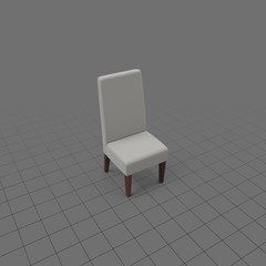 High back fabric chair
