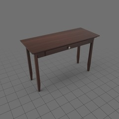 Wood desk with single drawer