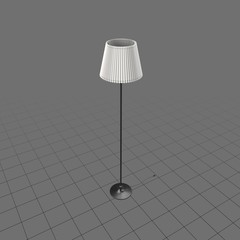 Tall floor lamp with shade