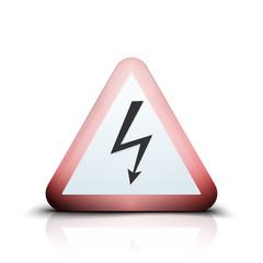 High Voltage Risk sign