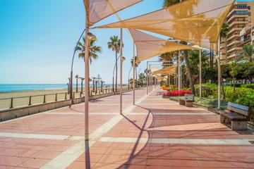 Promenade in Estepona, Andalusia, Spain Wall mural