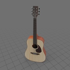 Upright acoustic guitar