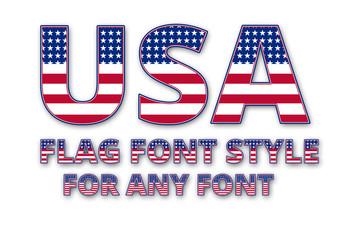 USA Flag Font Style