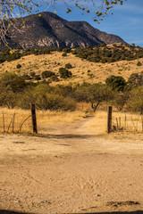 road to desert mountains