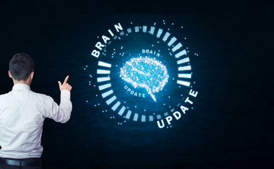 Update brain. Business concept