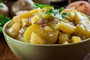Traditional German potato salad