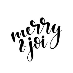 Vintage Merry Christmas And Happy New Year Calligraphic And Typographic Phrase. Hand drawn lettering quote
