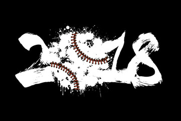 Abstract number 2017 and baseball