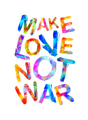 Make love not war. Triangular letters