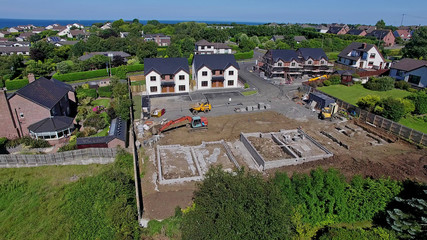 Building Site build two story house homes with bungalow