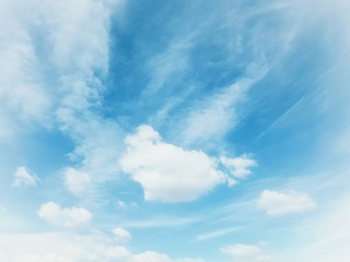blue sky and clouds in summer background.
