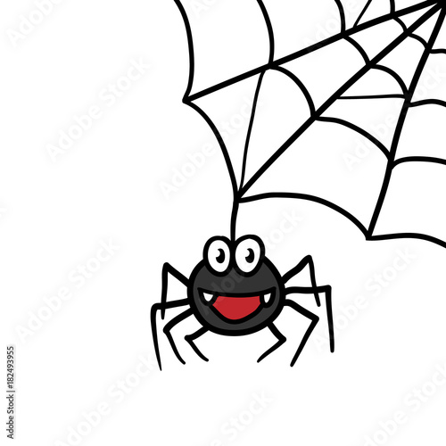 Cartoon Spider and Web