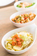 Stir fried Cabbage with Fish sauce