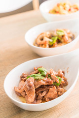 Stir Fried Pork with Shrimp Paste