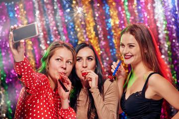 Selfie in night club