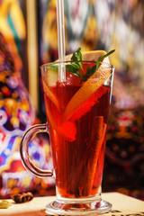 berry winter tea