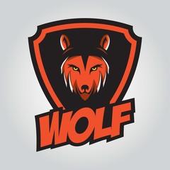 Wolf design template