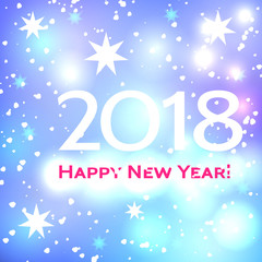 Beautiful  Happy New Year 2018 background