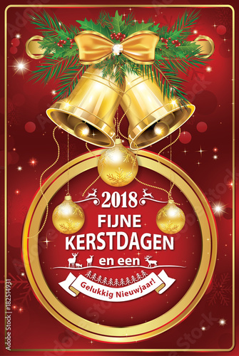 merry christmas and happy new year printable greeting card designed for the dutch speaking clients