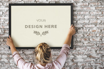 Wall Mural - Design space with photo frame