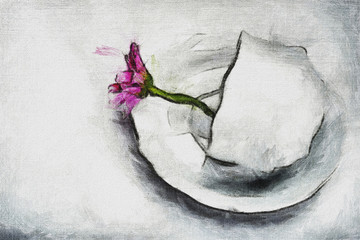 Drawing flower