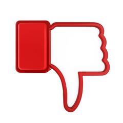 Thumb Down Icon Isolated