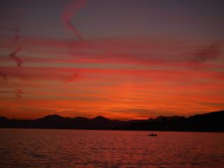 coucher de soleil Juan les pins alpes maritimes France