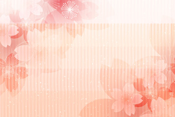 桜 年賀状 和紙 背景