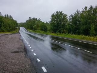 Highway after rain.