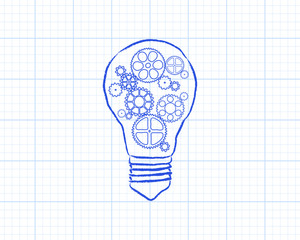 Light Bulb Gears Graph Paper