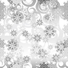 Seamless pattern of icy snow cover. Snow background. Festive pattern of wrapping paper