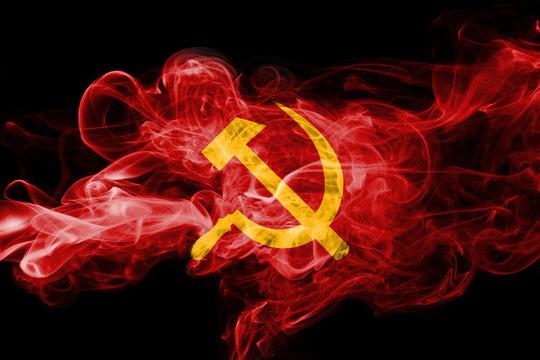 Communist national smoke flag