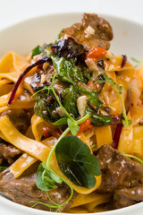tagliatelle with beef