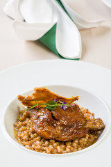 duck with barley