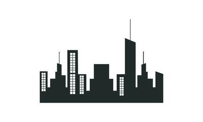 black skyscraper icon
