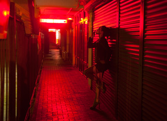 red-light street