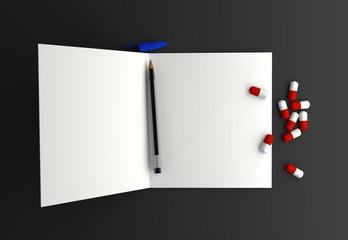 Blank suicide letter - Copyspace