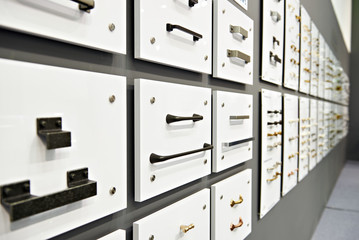 Handles for boxes and accessories furniture in hardware store
