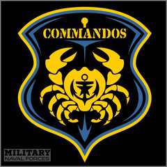 Crab - Military patch - marine theme