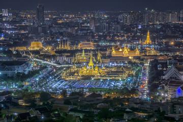 Royal Palace; Gold funeral pyre.Bangkok Thailand