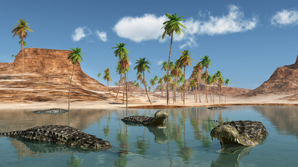 Prehistoric crocodile Sarcosuchus