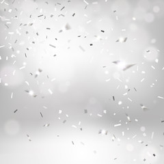 Silvery Falling Confetti