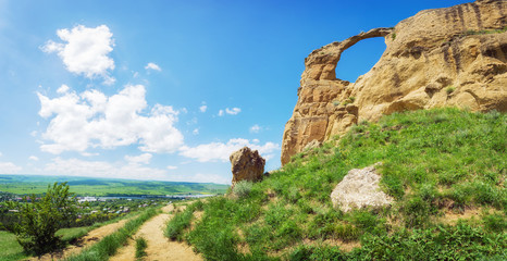 """Mountain """"Ring"""" near the Kislovodsk, Russia"""